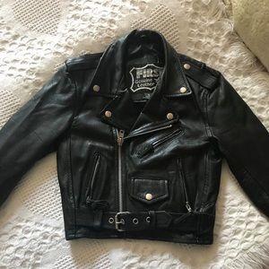 Kid's genuine leather jacket